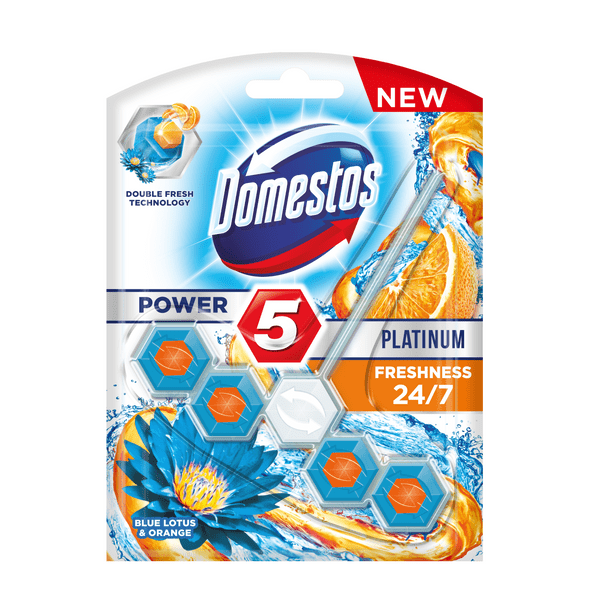 Domestos Platinum Power 5 Freshness 24/7 Blue lotus & orange