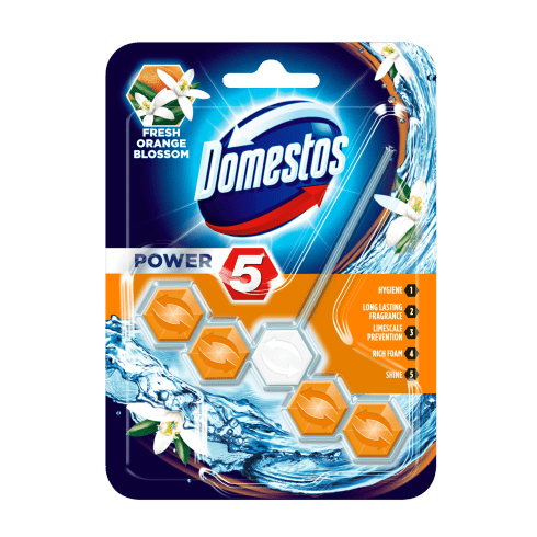 Domestos power5 wc frissítő blokk fresh orange blossom