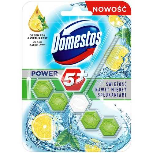 KOSTKA TOALETOWA DOMESTOS POWER5+ GREEN TEA & CITRUS 1X55G