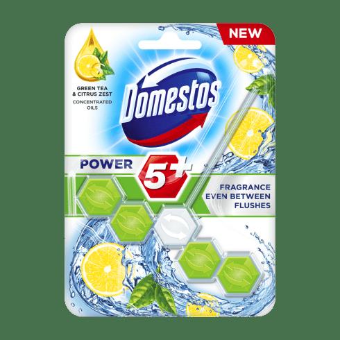 Domestos power5+ wc frissítő blokk zöld tea & citrus