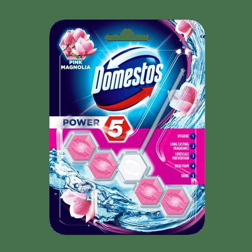 Domestos power5 wc frissítő blokk pink magnolia