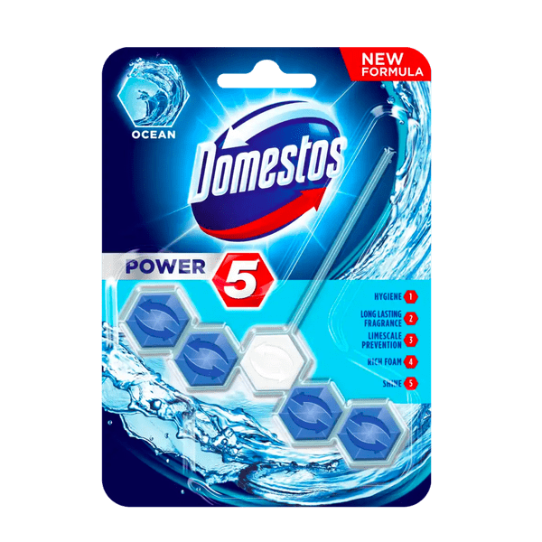 Domestos Power 5 Ocean Toilet Block