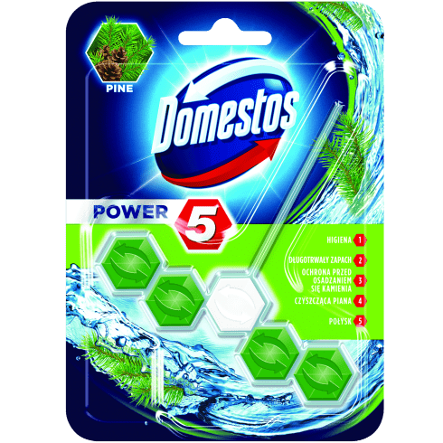 Kostka toaletowa domestos power5 pine