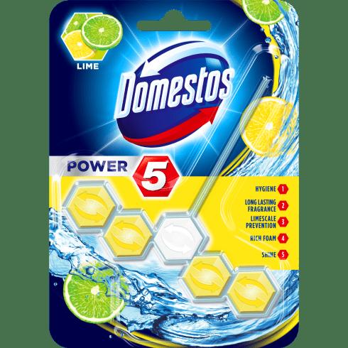 Domestos power5 wc frissítő blokk lime