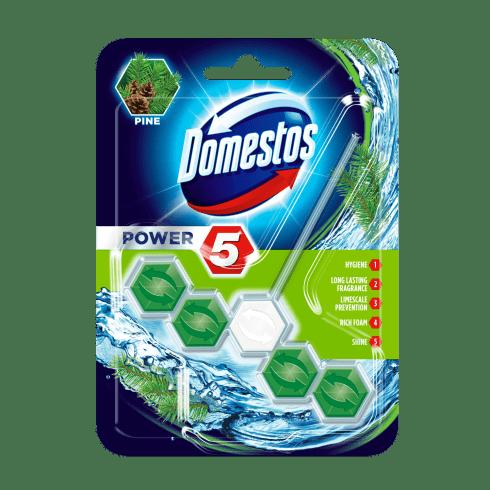 Domestos power5 wc frissítő blokk pine